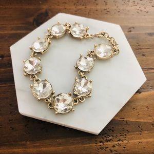 J Crew Gold Gemstone Bracelet